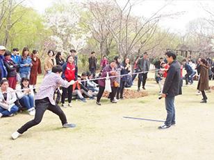 上海朝日日语拔河比赛