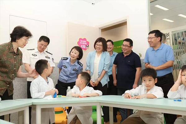 上海市儿童基金会、妇联及公安局领导慰问