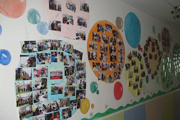 瑞思学科英语背景墙