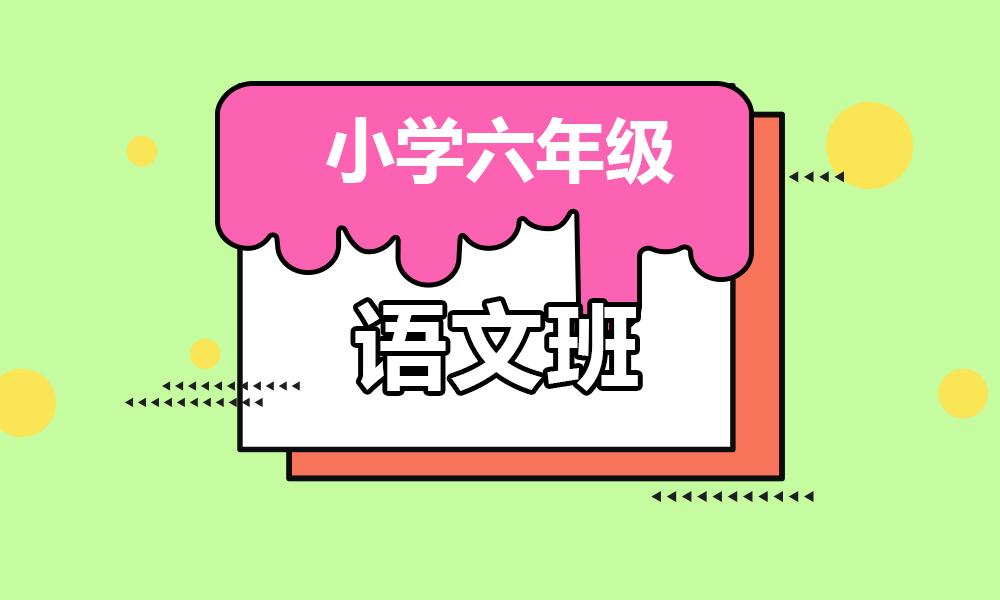 杭州学大小学六年级语文辅导课程