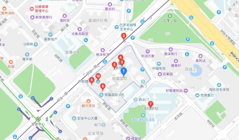 深圳阳光喔宝安丽晶国际中心校区