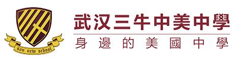 武汉三牛中美中学Logo