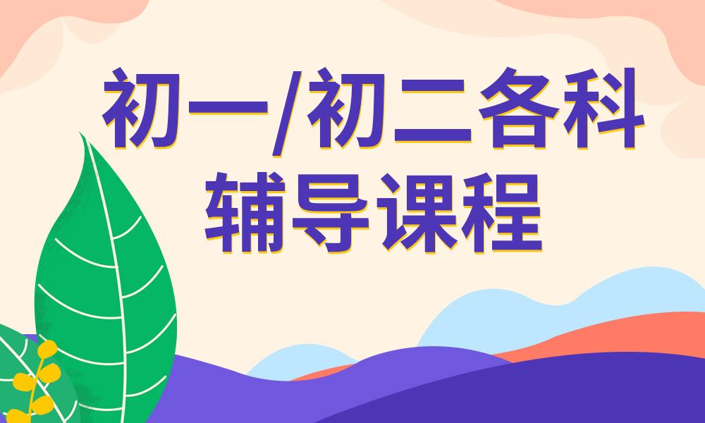 郑州学大初一/初二各科辅导课程